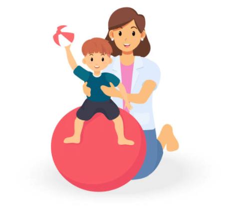 Dessin d'une femme avec un enfant pour séance de psychomotricité